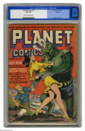 Golden Age (1938-1955):Science Fiction, Planet Comics #23 Rockford pedigree (Fiction House, 1943) CGC VF+8.5 Cream to off-white pages. Dan Zolnerowich's covers set...