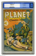 Golden Age (1938-1955):Science Fiction, Planet Comics #26 Rockford pedigree (Fiction House, 1943) CGC VF/NM9.0 Cream to off-white pages. Joe Doolin succeeded Dan Z...