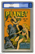 Golden Age (1938-1955):Science Fiction, Planet Comics #40 Rockford pedigree (Fiction House, 1946) CGC VF+8.5 Off-white pages. The Rockford collection comes through...
