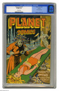 Golden Age (1938-1955):Science Fiction, Planet Comics #41 Rockford pedigree (Fiction House, 1946) CGC VF/NM9.0 Off-white pages. Mysta of the Moon looks absolutely ...