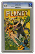 Golden Age (1938-1955):Science Fiction, Planet Comics #42 (Fiction House, 1946) CGC VF/NM 9.0 Off-whitepages. Joe Doolin marks the last Gale Allen feature in this ...