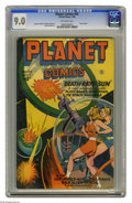 Golden Age (1938-1955):Science Fiction, Planet Comics #43 (Fiction House, 1946) CGC VF/NM 9.0 Off-whitepages. The creative cover is from Joe Doolin on this issue, ...