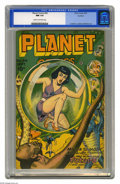 Golden Age (1938-1955):Science Fiction, Planet Comics #44 Rockford pedigree (Fiction House, 1946) CGC NM9.4. Stunning cover by Joe Doolin on a stunning copy from t...