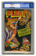 Golden Age (1938-1955):Science Fiction, Planet Comics #45 Rockford pedigree (Fiction House, 1946) CGC VF/NM9.0 Off-white pages. The surreal, colorful, and sexy(!) ...