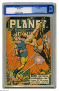 Golden Age (1938-1955):Science Fiction, Planet Comics #46 Rockford pedigree (Fiction House, 1947) CGC VF+8.5 Cream to off-white pages. Just two copies of this issu...