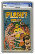 Golden Age (1938-1955):Science Fiction, Planet Comics #49 Rockford pedigree (Fiction House, 1947) CGC VF/NM9.0 Cream to off-white pages. As exciting as the covers ...