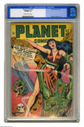 Golden Age (1938-1955):Science Fiction, Planet Comics #51 (Fiction House, 1947) CGC VF/NM 9.0 Off-white towhite pages. This issue of Planet Comics is notable f...