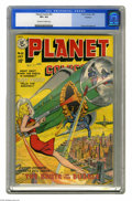Golden Age (1938-1955):Science Fiction, Planet Comics #61 Rockford pedigree (Fiction House, 1949) CGC VF+8.5 Off-white to white pages. A barefoot babe blasts a hug...