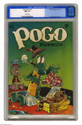 """Golden Age (1938-1955):Funny Animal, Pogo Possum #7 (Dell, 1951) CGC NM- 9.2 Off-white pages. Here's abeautiful """"funny animal"""" comic, featuring Walt Kelly story..."""