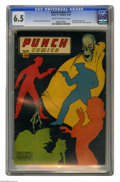 Punch Comics #11 (Chesler, 1944) CGC FN+ 6.5 Cream to off-white pages. Jack Cole and Charles Sultan art. Reprints the fi...