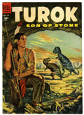 Golden Age (1938-1955):Miscellaneous, Four Color #596 Turok, Son of Stone (Dell, 1954) Condition: VG/FN....