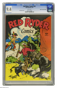 Red Ryder Comics #33 Mile High pedigree (Dell, 1946) CGC NM 9.4 White pages. This issue features a slightly more somber...