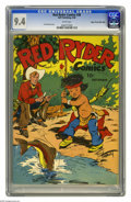 Golden Age (1938-1955):Western, Red Ryder Comics #38 Mile High pedigree (Dell, 1946) CGC NM 9.4 White pages. A charming Fred Harman cover illustration featu...