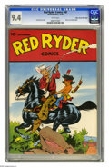 Golden Age (1938-1955):Western, Red Ryder Comics #40 Mile High pedigree (Dell, 1946) CGC NM 9.4White pages. This beautiful and colorful cover illustration ...
