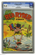 "Golden Age (1938-1955):Western, Red Ryder Comics #41 Mile High pedigree (Dell, 1946) CGC NM/MT 9.8 White pages. You might want to do a ""double take"" on this..."
