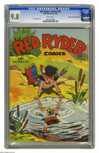 "Red Ryder Comics #41 Mile High pedigree (Dell, 1946) CGC NM/MT 9.8 White pages. You might want to do a ""double take..."