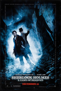"""Sherlock Holmes: A Game of Shadows (Warner Brothers, 2011). One Sheet (27"""" X 40"""") DS Advance. Mystery"""
