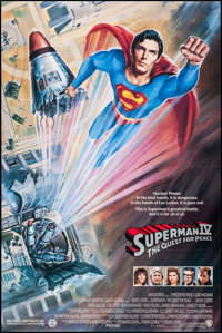 """Superman IV: The Quest for Peace & Other Lot (Warner Brothers, 1987). One Sheet (27"""" X 40.5"""", 27""""..."""