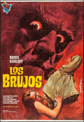"""Movie Posters:Horror, The Sorcerers (Cire, R-1973). Spanish One Sheet (27"""" X 39.5"""") MartiNipold Artwork. Horror.. ..."""