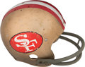 Football Collectibles:Helmets, Late 1960's San Francisco 49ers Game Worn Helmet....