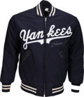 Baseball Collectibles:Others, Circa 1990 Mickey Mantle Signed New York Yankees Jacket. . ...