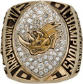 Football Collectibles:Others, 2001 Grand Rapids Rampage Arena Football Championship Ring. . ...