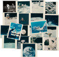 """Explorers:Space Exploration, Apollo 16: Collection of Nineteen Vintage NASA Photos, Eighteen are Color, Includes John Young's """"Leaping Salute"""" Image...."""