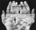 Photographs, Jerry Uelsmann (American, b. 1934). Untitled (Hands with clouds and house), 1989. Gelatin silver. 15-5/8 x 19 inches (39...