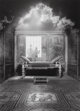 Jerry Uelsmann (American, b. 1934) Untitled (Silhouettes and day bed), 1993 Gelatin silver 19-3/8 x 14-1/4 inches (49...