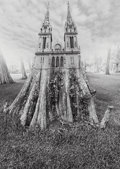 Photographs, Jerry Uelsmann (American, b. 1934). Untitled (Cathedral), 1975. Gelatin silver. 19-1/4 x 13-3/4 inches (48.9 x 34.9 cm)...