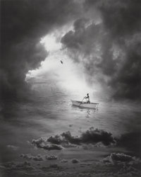Jerry Uelsmann (American, b. 1934) Untitled (Rowboat), 1995 Gelatin silver 18-5/8 x 15 inches (47