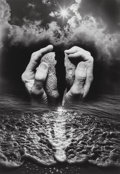 Photographs, Jerry Uelsmann (American, b. 1934). Untitled (Hands and ocean), 1987. Gelatin silver. 19-1/2 x 13-5/8 inches (49.5 x 34....