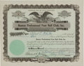 Football Collectibles:Others, 1929 Boston Bulldogs Stock Certificate - One Year NFL Franchise! ...