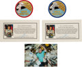 Explorers:Space Exploration, Soyuz TMA-6 / I.S.S. Expedition 11 Collection: Flown and EVA-worn Commander and Flight Engineer Patches with Certificates of A... (Total: 4 )