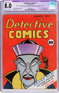 Golden Age (1938-1955):Adventure, Detective Comics #1 (DC, 1937) CGC Apparent VF 8.0 Slight/Moderate (A-2) Cream to off-white pages....