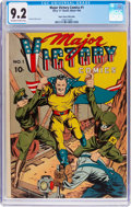 Major Victory Comics #1 Mile High Pedigree (H. Clay Glover Company, 1944) CGC NM- 9.2 Off-white to white pages