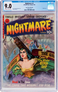 Nightmare #1 Mile High Pedigree (Ziff-Davis, 1952) CGC VF/NM 9.0 Off-white to white pages