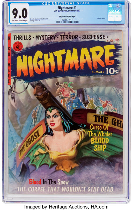 Nightmare #1 Mile High Pedigree (Ziff-Davis, 1952) CGC VF/NM 9.0 Off-white to white pages....