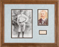 "Autographs:Others, Circa 1910 Adrian ""Cap"" Anson Signed Cut Signature Display.. ..."