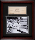 Autographs:Others, Circa 1940 Mel Ott Signed Cut Signature Display, PSA/DNA Mint 9.. ...