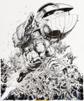Original Comic Art:Covers, Arthur Adams Aquaman Annual #5 Cover Original Art (DC, 1999)....