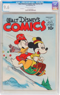 Golden Age (1938-1955):Cartoon Character, Walt Disney's Comics and Stories #41 (Dell, 1944) CGC NM+ 9.6Off-white to white pages....