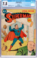 Superman #4 Billy Wright Pedigree (DC, 1940) CGC VF- 7.5 Off-white to white pages