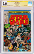 Bronze Age (1970-1979):Science Fiction, Star Wars #2 35 Cent Price Variant - Signature Series (Marvel, 1977) CGC VF/NM 9.0 Off-white to white pages....