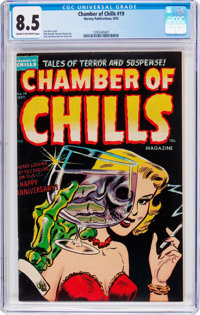 Chamber of Chills #19 (Harvey, 1953) CGC VF+ 8.5 Cream to off-white pages