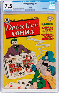 Detective Comics #118 Rockford Pedigree (DC, 1946) CGC VF- 7.5 Off-white to white pages
