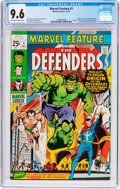 Bronze Age (1970-1979):Superhero, Marvel Feature #1 The Defenders (Marvel, 1971) CGC NM+ 9.6Off-white to white pages....