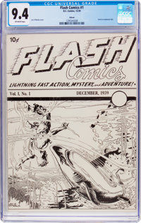 Flash Comics (Ashcan) #1 (DC, 1939) CGC NM 9.4 Off-white pages