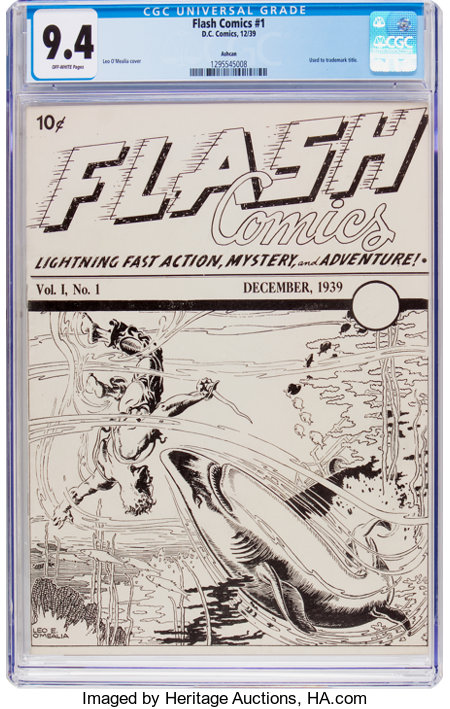 Flash Comics (Ashcan) #1 (DC, 1939) CGC NM 9.4 Off-white pages....