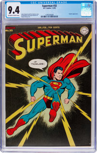 Superman #32 (DC, 1945) CGC NM 9.4 Off-white to white pages